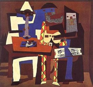 "Lukisan kubisme ""3 musicians"" karya Picasso"