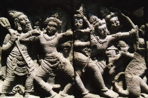 Relief batu candi